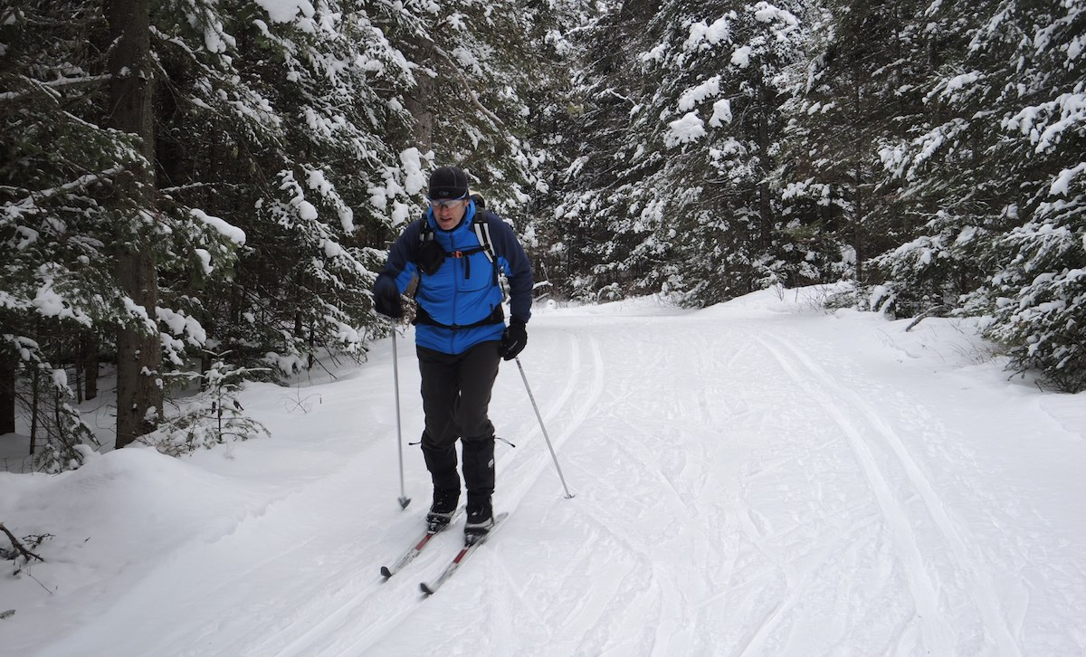 bruce watts cross country skiing in Algonquin Park